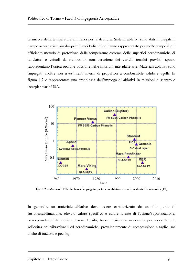 Anteprima della tesi: Modellizzazione dei fenomeni di ablazione superficiale di scudi termici per veicoli di rientro, Pagina 5