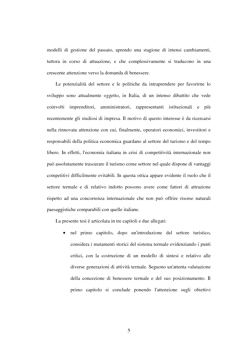 Anteprima della tesi: Problematiche di governo e di gestione delle imprese termali: il caso Ischia, Pagina 3