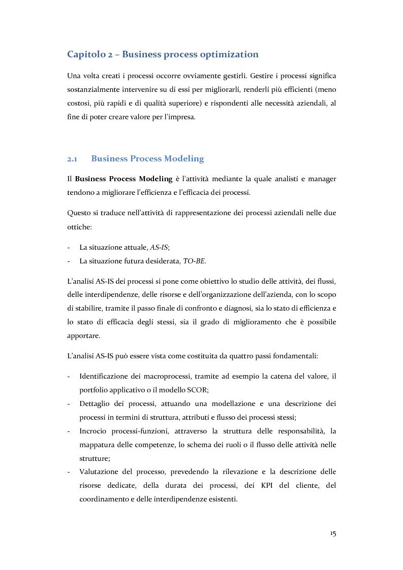 Anteprima della tesi: Definizione, ottimizzazione e monitoraggio dei processi aziendali con ARIS Business Process Management, Pagina 10