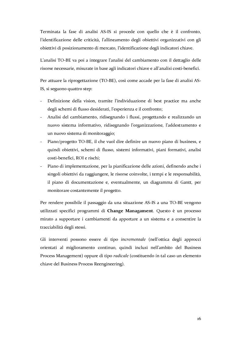 Anteprima della tesi: Definizione, ottimizzazione e monitoraggio dei processi aziendali con ARIS Business Process Management, Pagina 11
