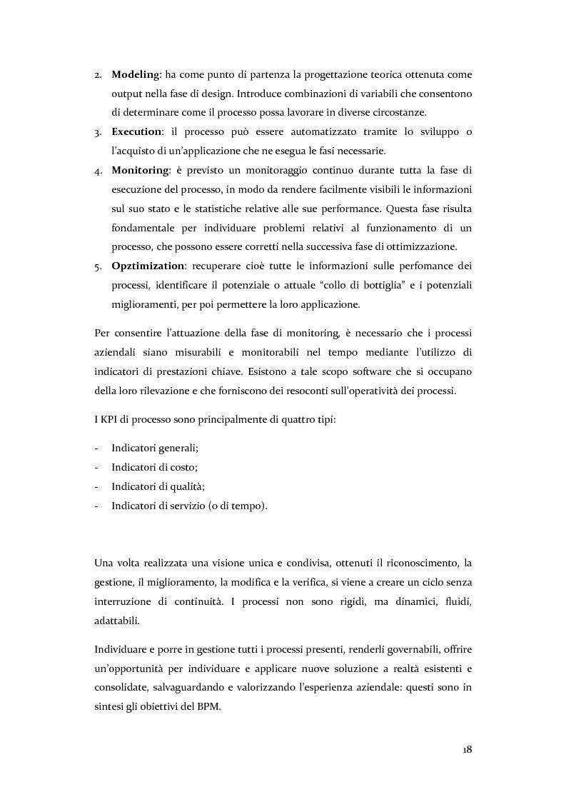 Anteprima della tesi: Definizione, ottimizzazione e monitoraggio dei processi aziendali con ARIS Business Process Management, Pagina 13
