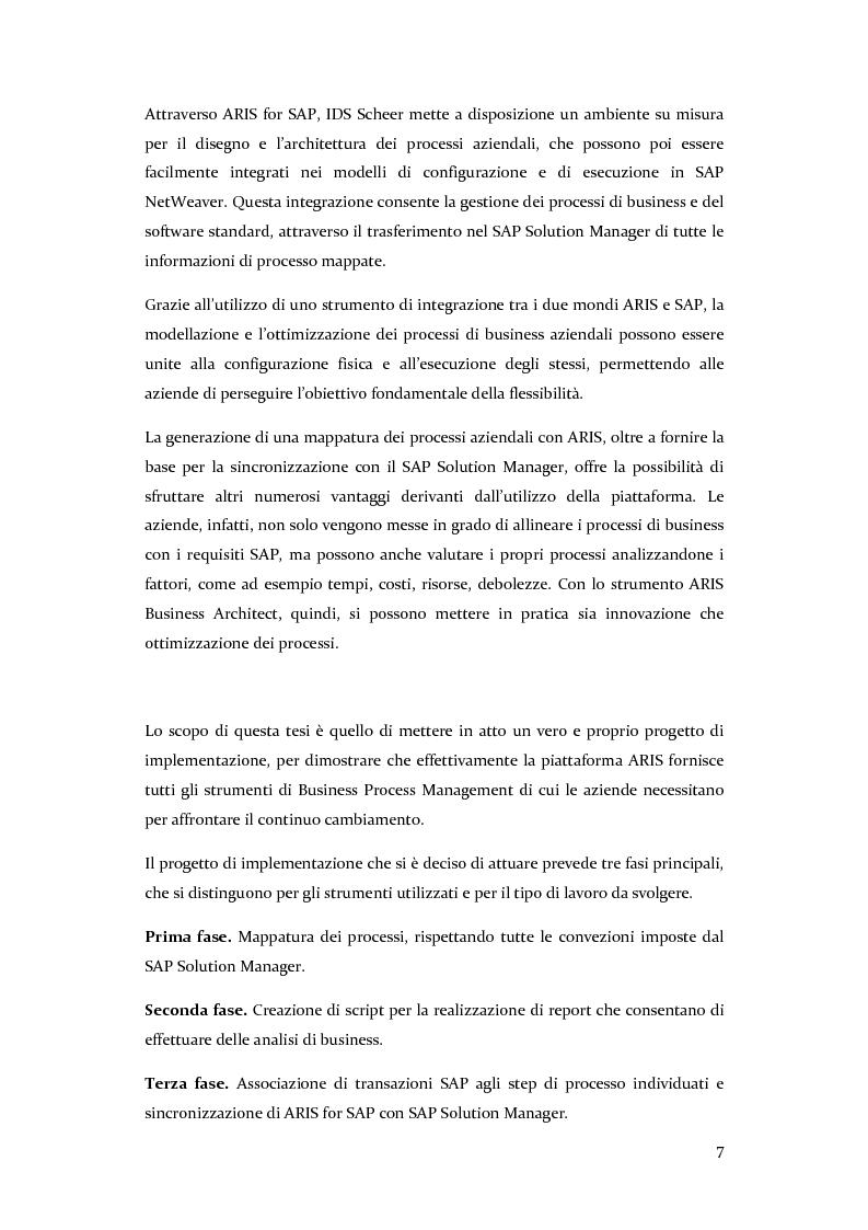 Anteprima della tesi: Definizione, ottimizzazione e monitoraggio dei processi aziendali con ARIS Business Process Management, Pagina 3