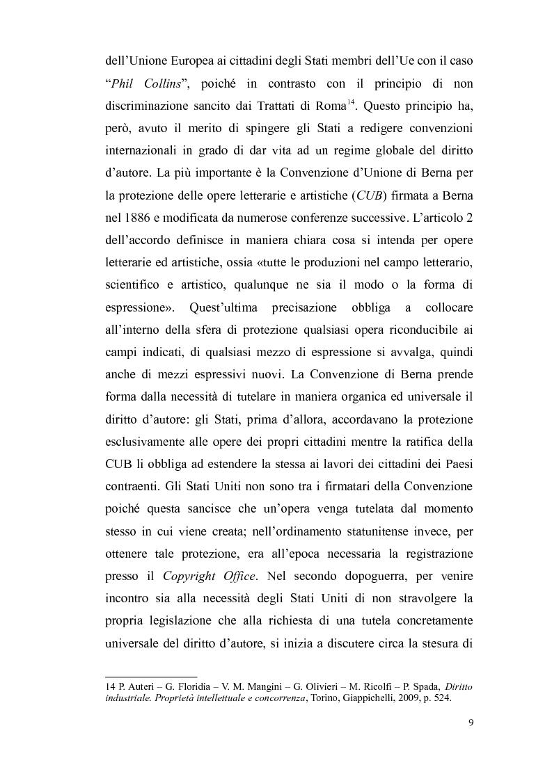 Anteprima della tesi: Il diritto d'autore nella società globalizzata: tra equo compenso, DRM e file sharing, Pagina 10
