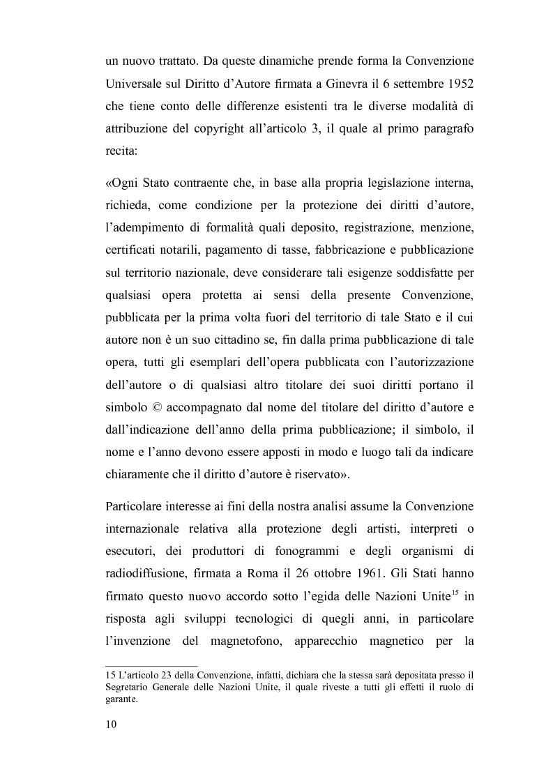 Anteprima della tesi: Il diritto d'autore nella società globalizzata: tra equo compenso, DRM e file sharing, Pagina 11