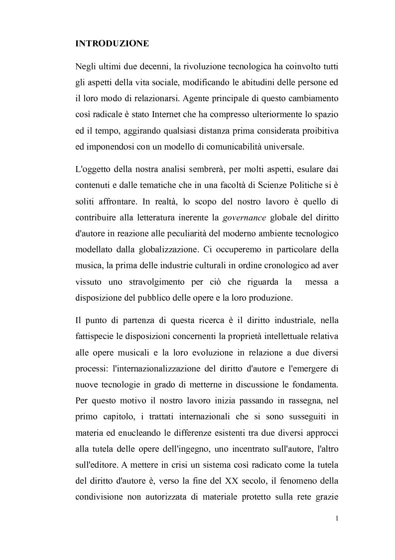 Anteprima della tesi: Il diritto d'autore nella società globalizzata: tra equo compenso, DRM e file sharing, Pagina 2
