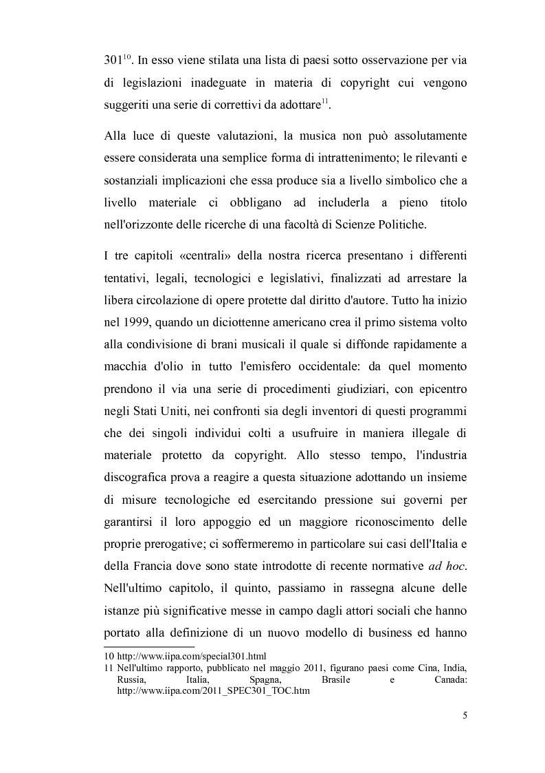 Anteprima della tesi: Il diritto d'autore nella società globalizzata: tra equo compenso, DRM e file sharing, Pagina 6