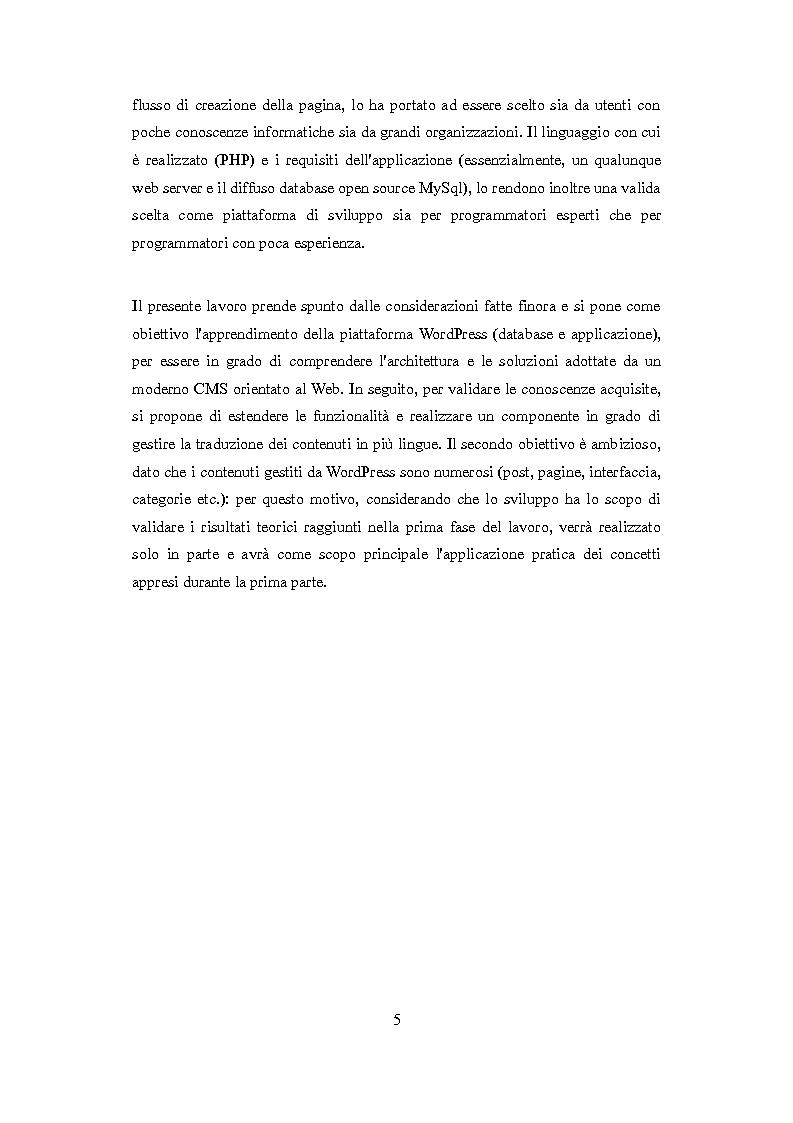 Anteprima della tesi: Realizzazione di un template multilingua per la piattaforma WordPress, Pagina 3