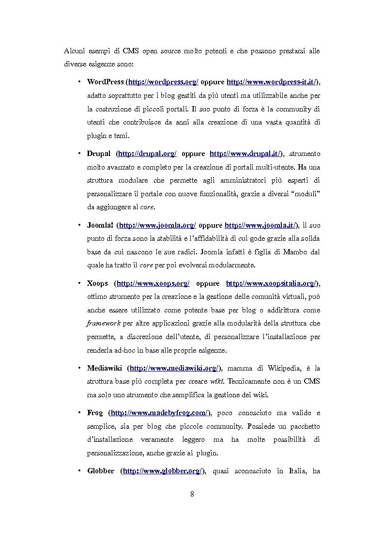 Anteprima della tesi: Realizzazione di un template multilingua per la piattaforma WordPress, Pagina 6