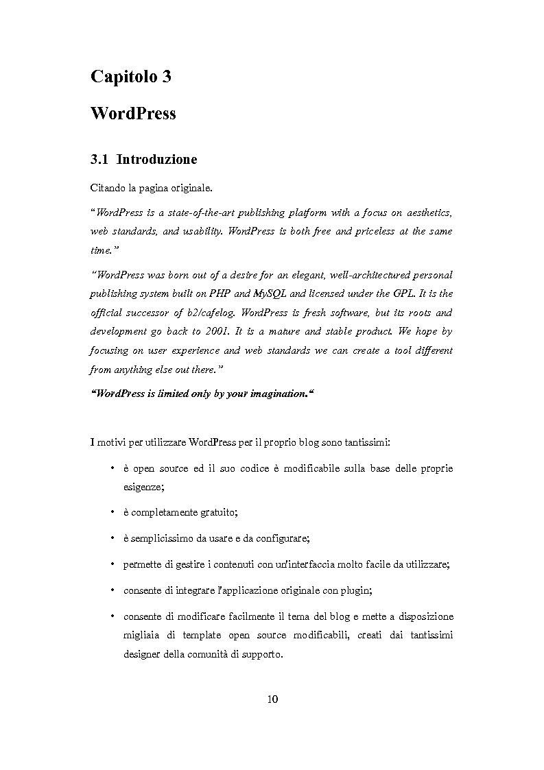 Anteprima della tesi: Realizzazione di un template multilingua per la piattaforma WordPress, Pagina 8