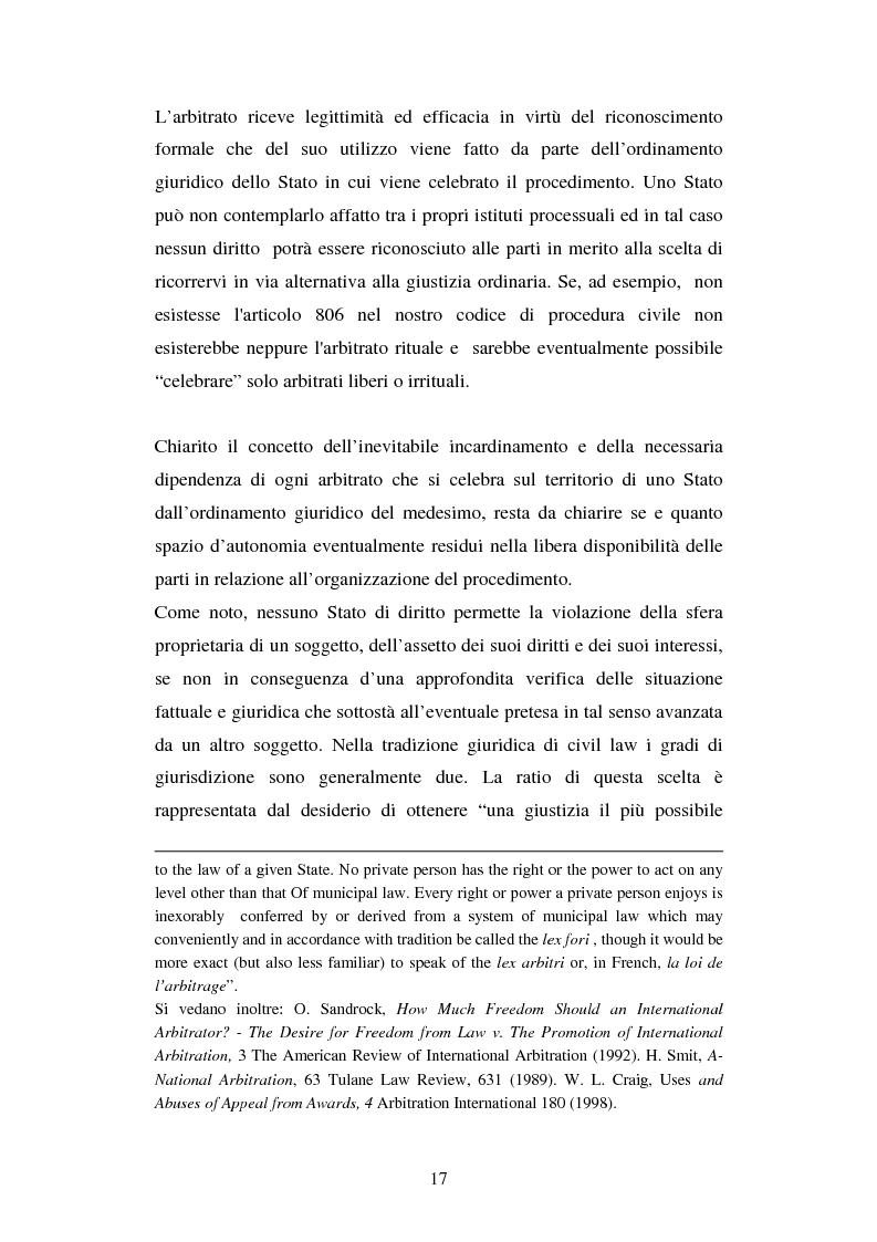 Anteprima della tesi: L'arbitrato commerciale internazionale. Il riconoscimento del lodo annullato nel paese d'origine ex articoli v(1)(e) e vII convenzione di New York del 1958, Pagina 10