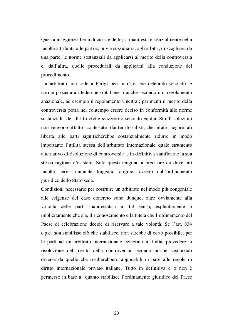 Anteprima della tesi: L'arbitrato commerciale internazionale. Il riconoscimento del lodo annullato nel paese d'origine ex articoli v(1)(e) e vII convenzione di New York del 1958, Pagina 13