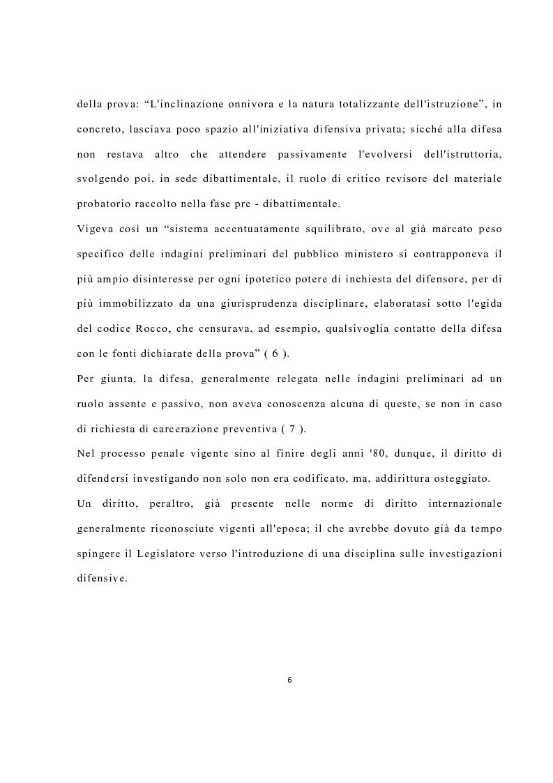 Anteprima della tesi: La disciplina delle investigazioni difensive, Pagina 10