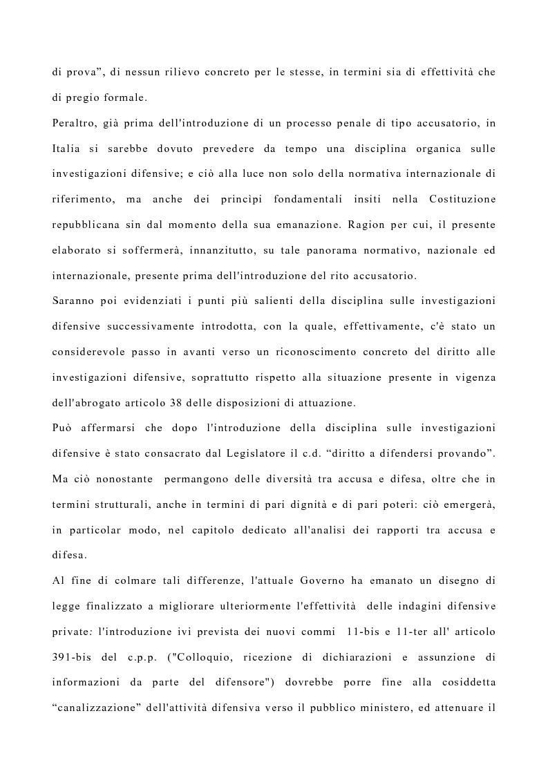 Anteprima della tesi: La disciplina delle investigazioni difensive, Pagina 3