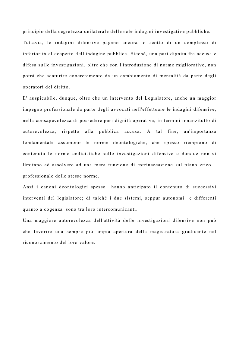 Anteprima della tesi: La disciplina delle investigazioni difensive, Pagina 4