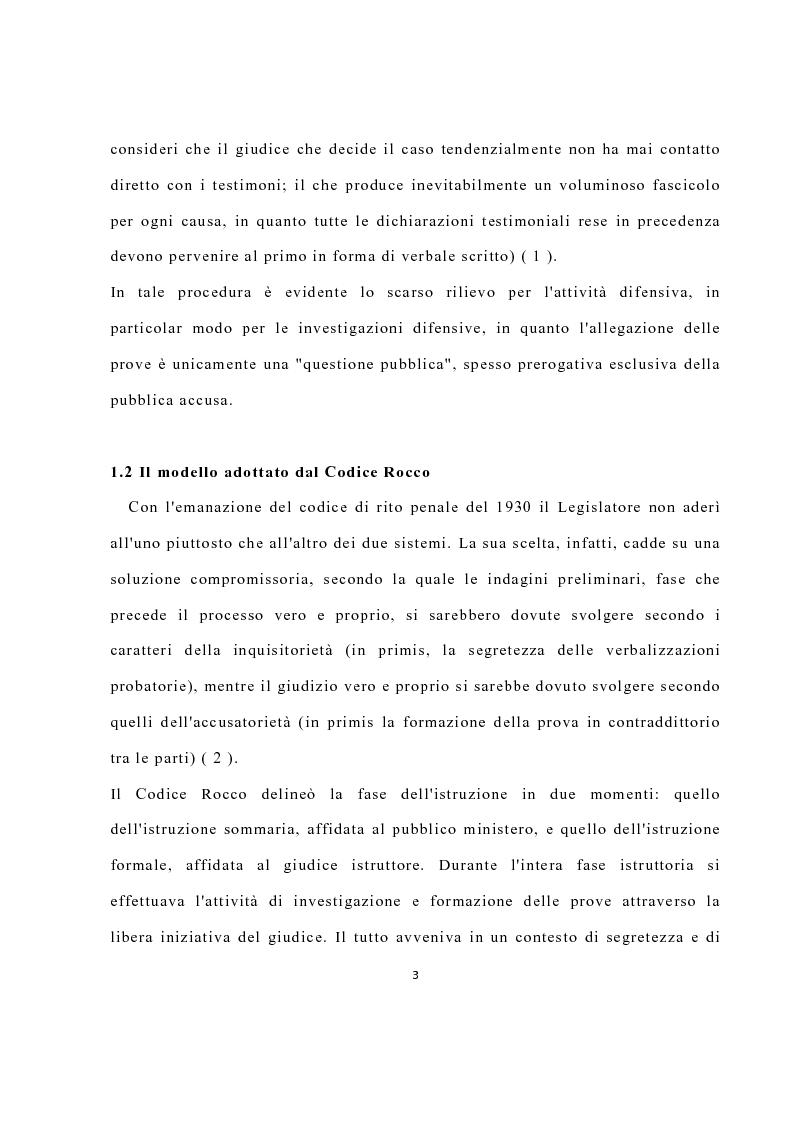 Anteprima della tesi: La disciplina delle investigazioni difensive, Pagina 7