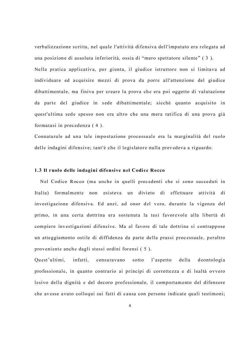 Anteprima della tesi: La disciplina delle investigazioni difensive, Pagina 8