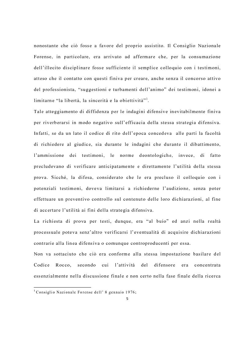 Anteprima della tesi: La disciplina delle investigazioni difensive, Pagina 9