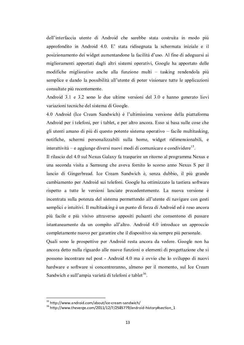Anteprima della tesi: Modelli di sviluppo competitivo nel sistema mobile: Google vs Apple, Pagina 11
