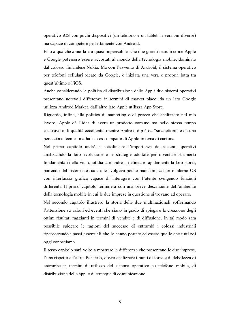 Anteprima della tesi: Modelli di sviluppo competitivo nel sistema mobile: Google vs Apple, Pagina 3