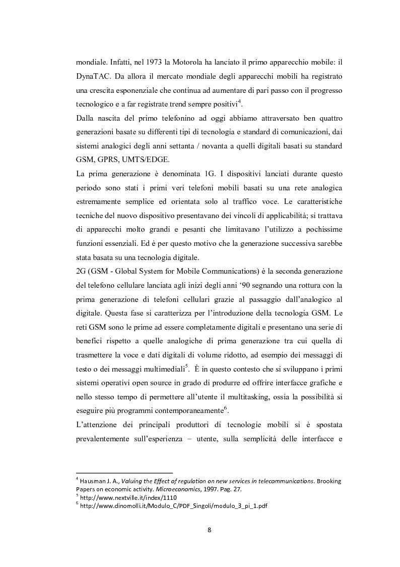 Anteprima della tesi: Modelli di sviluppo competitivo nel sistema mobile: Google vs Apple, Pagina 6