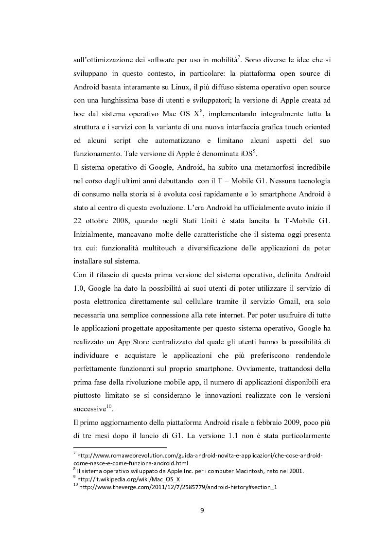 Anteprima della tesi: Modelli di sviluppo competitivo nel sistema mobile: Google vs Apple, Pagina 7