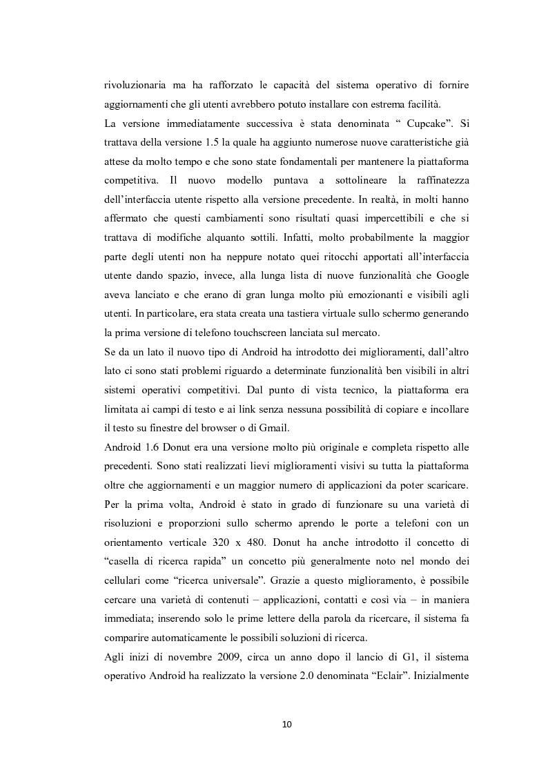 Anteprima della tesi: Modelli di sviluppo competitivo nel sistema mobile: Google vs Apple, Pagina 8