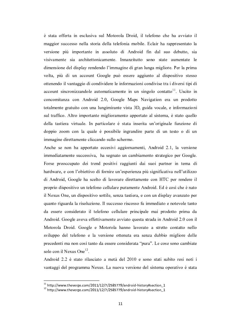 Anteprima della tesi: Modelli di sviluppo competitivo nel sistema mobile: Google vs Apple, Pagina 9