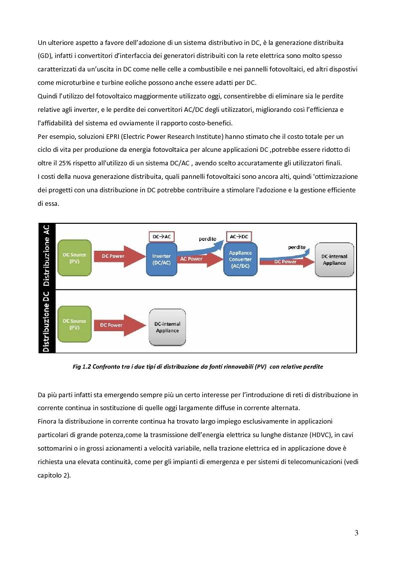 Anteprima della tesi: Sistemi in corrente continua (DC) per la razionalizzazione energetica. Studio di fattibilità per un sistema integrato di distribuzione DC ad uso residenziale (Microgrid House DC), Pagina 4