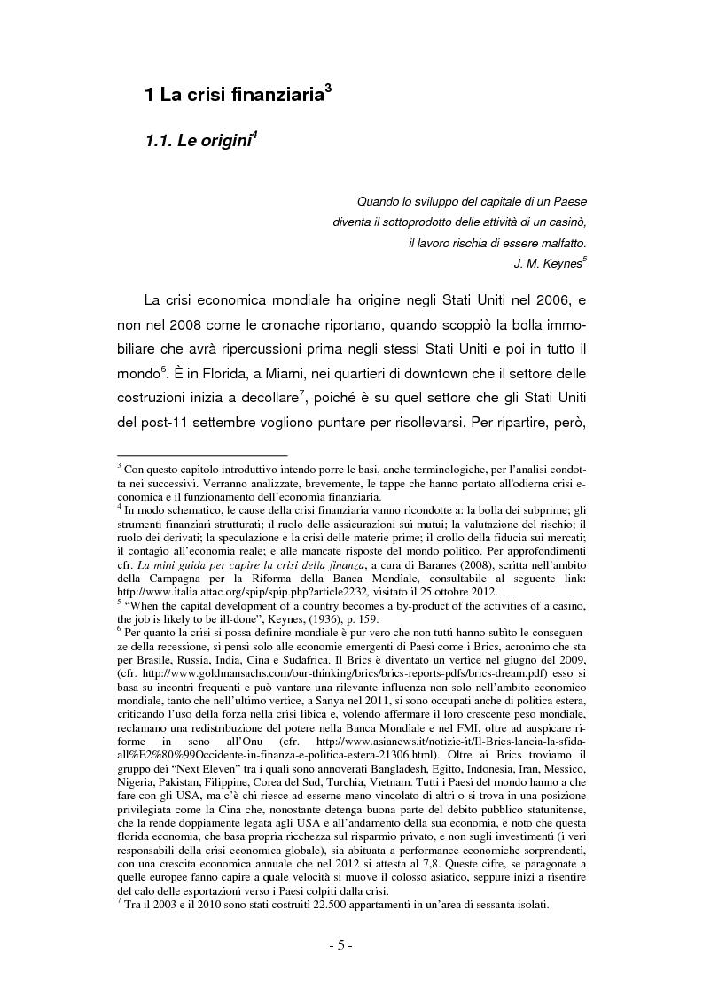 Anteprima della tesi: La finanziarizzazione dell'economia e le sue conseguenze, Pagina 5