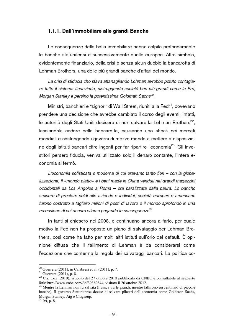Anteprima della tesi: La finanziarizzazione dell'economia e le sue conseguenze, Pagina 9