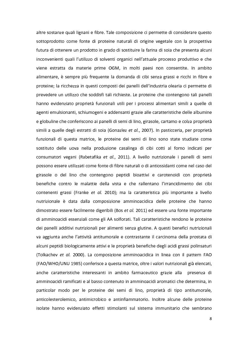 Anteprima della tesi: Impiego industriale dei panelli proteici derivanti da semi oleaginosi, Pagina 4