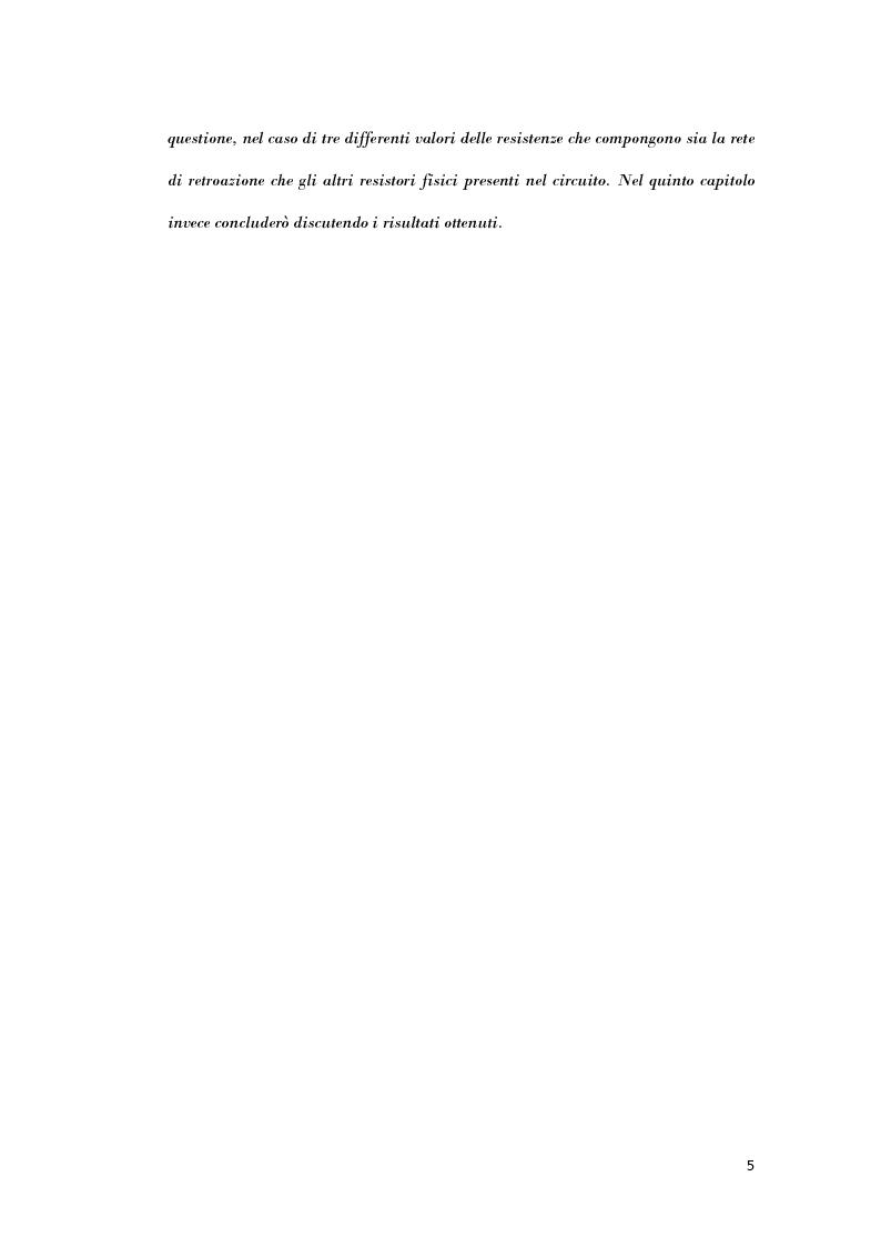 Anteprima della tesi: Analisi di strutture in controreazione per l'amplificazione di corrente, Pagina 3