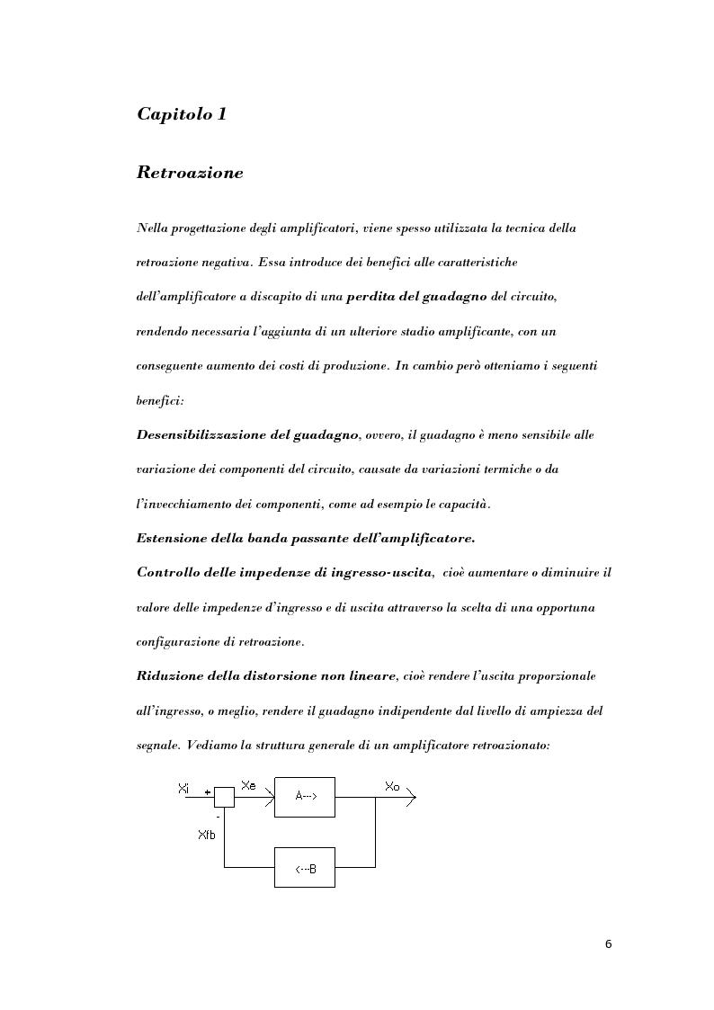 Anteprima della tesi: Analisi di strutture in controreazione per l'amplificazione di corrente, Pagina 4