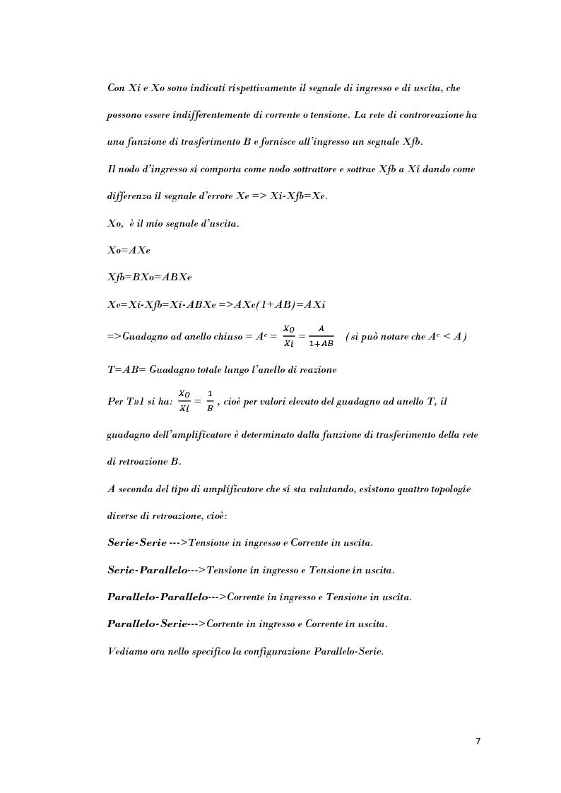 Anteprima della tesi: Analisi di strutture in controreazione per l'amplificazione di corrente, Pagina 5