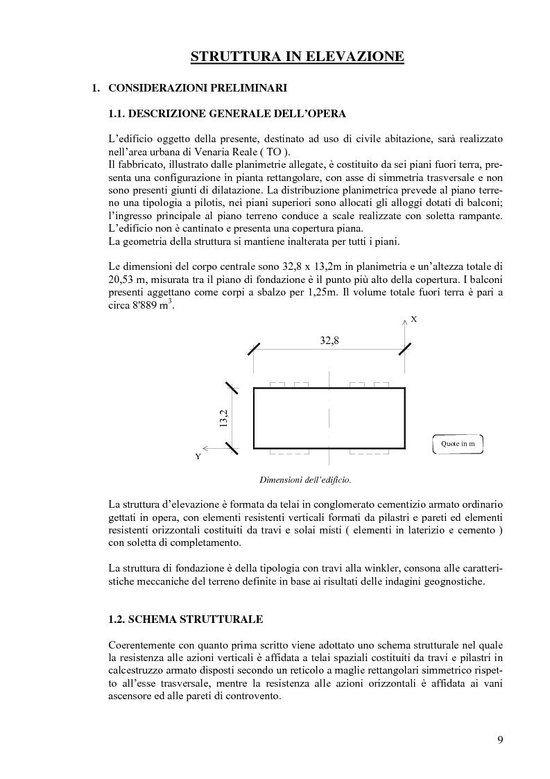 Anteprima della tesi: Calcolo di un edificio multipiano in zona sismica., Pagina 2