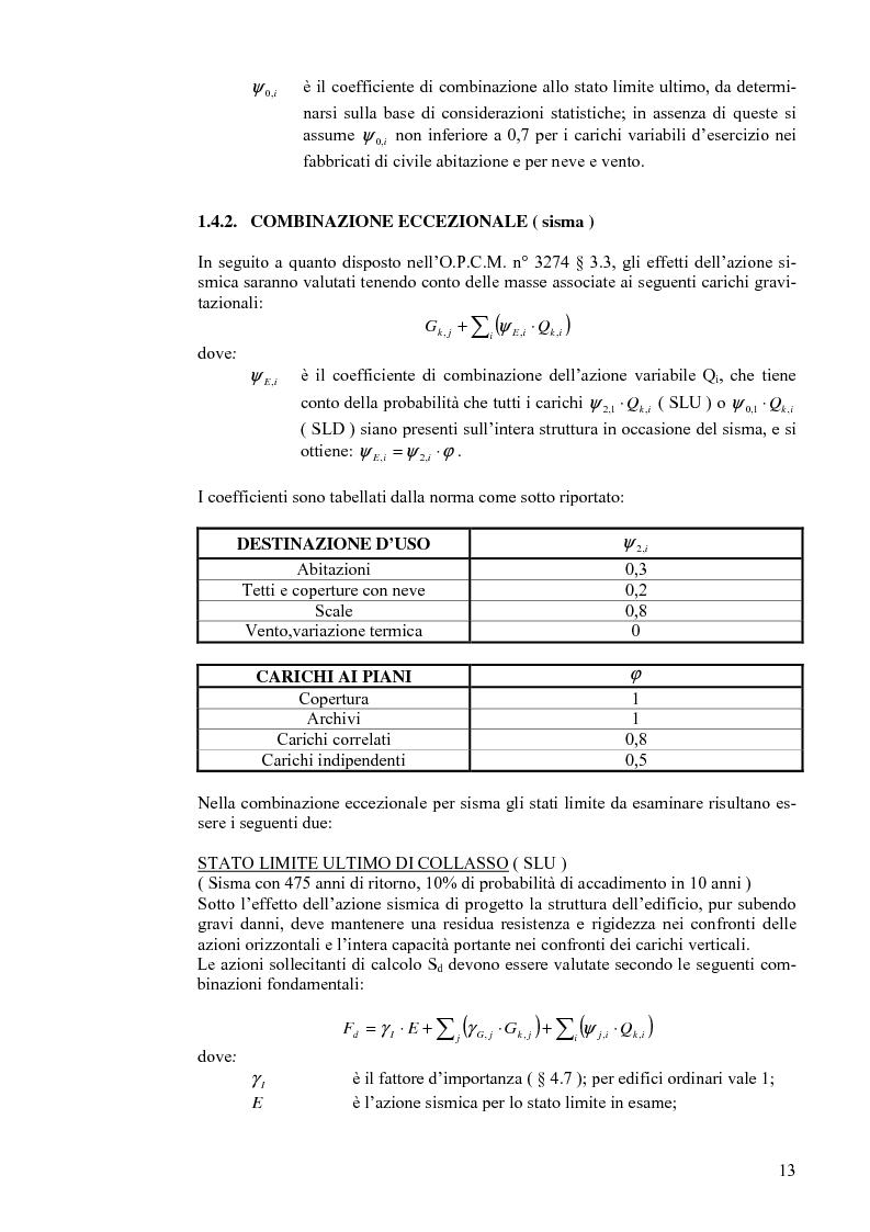 Anteprima della tesi: Calcolo di un edificio multipiano in zona sismica., Pagina 6