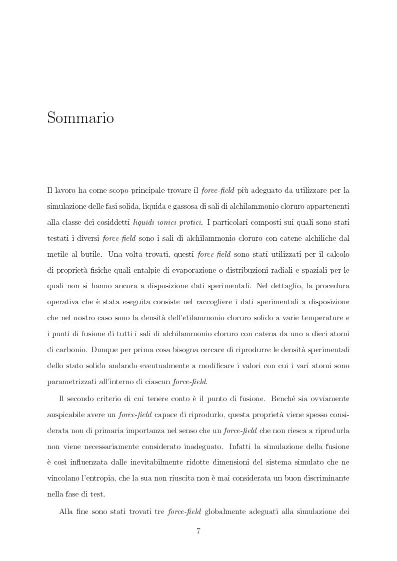 Anteprima della tesi: Caratterizzazione computazionale di alchilammonio cloruri, Pagina 2