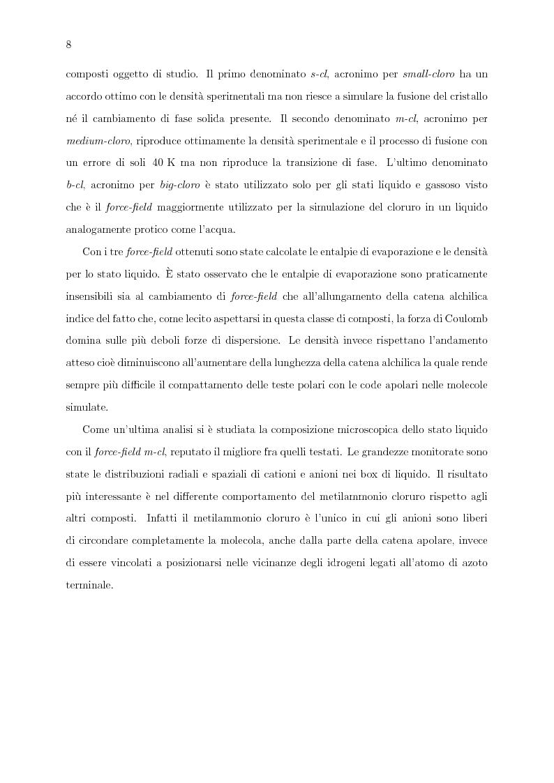 Anteprima della tesi: Caratterizzazione computazionale di alchilammonio cloruri, Pagina 3