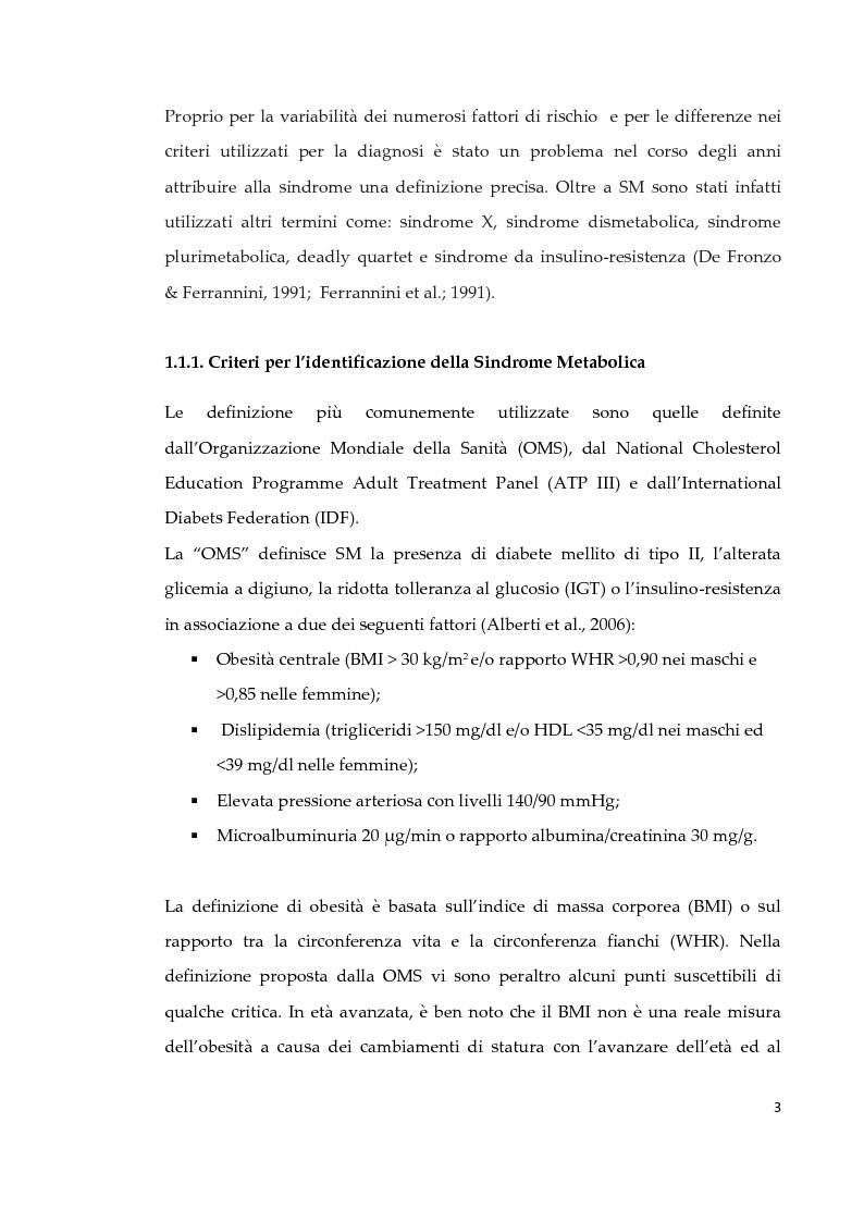 Anteprima della tesi: Effetto di due diversi trattamenti farmacologici sull'alterazione della vescica in un modello animale di Sindrome Metabolica, Pagina 4