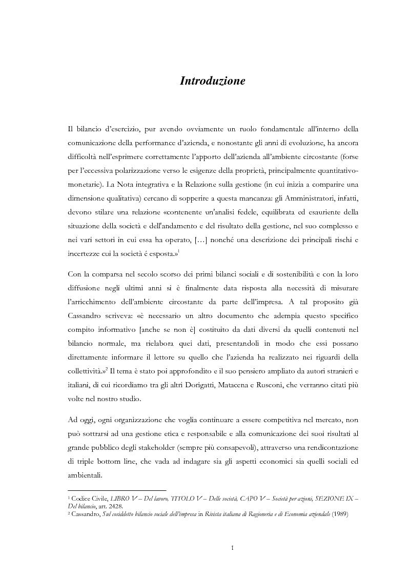 Anteprima della tesi: Dai risultati economico-finanziari ai risultati sociali ed ambientali, Pagina 3