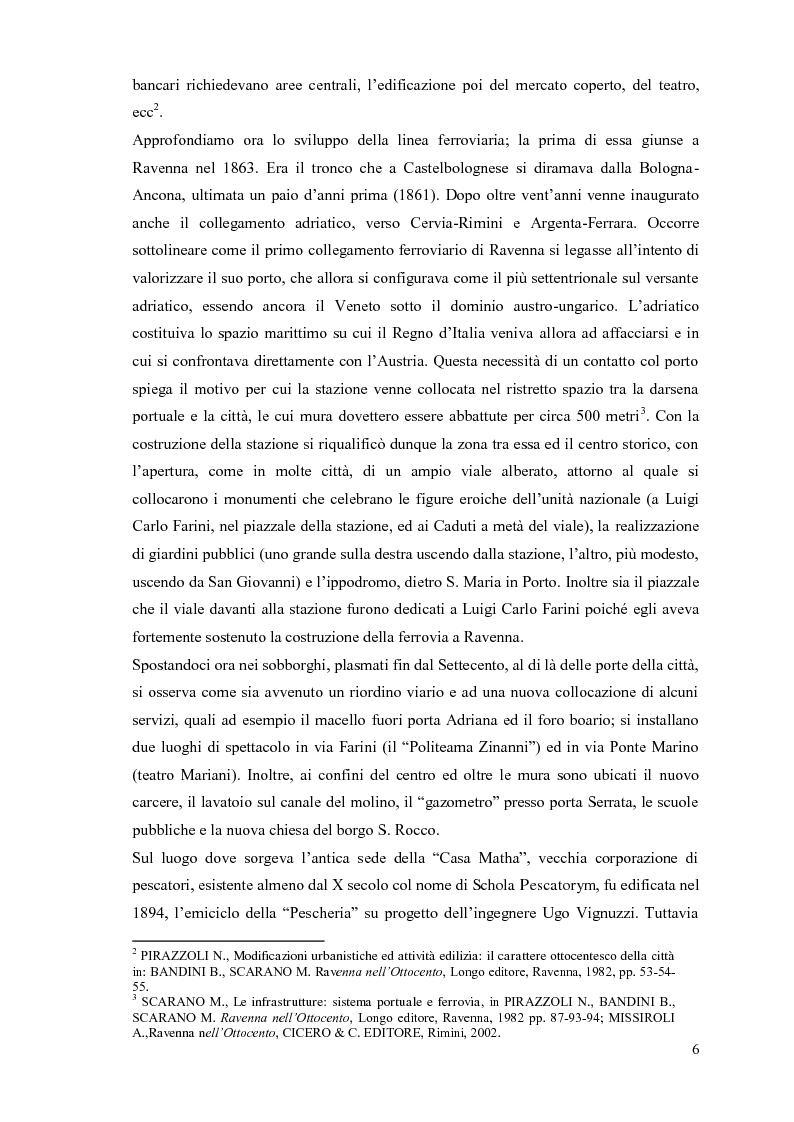Anteprima della tesi: Cassa di Risparmio di Ravenna, edificio emblematico della cultura unificatrice dell'Italia di fine Ottocento: studio diagnostico dei prospetti, Pagina 6
