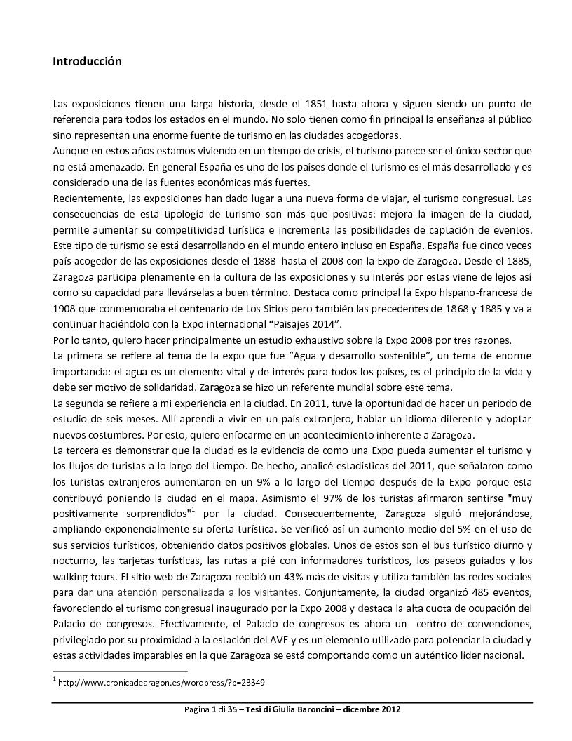 Anteprima della tesi: Expo: desarrollo de la ciudad y de su turismo, Pagina 2
