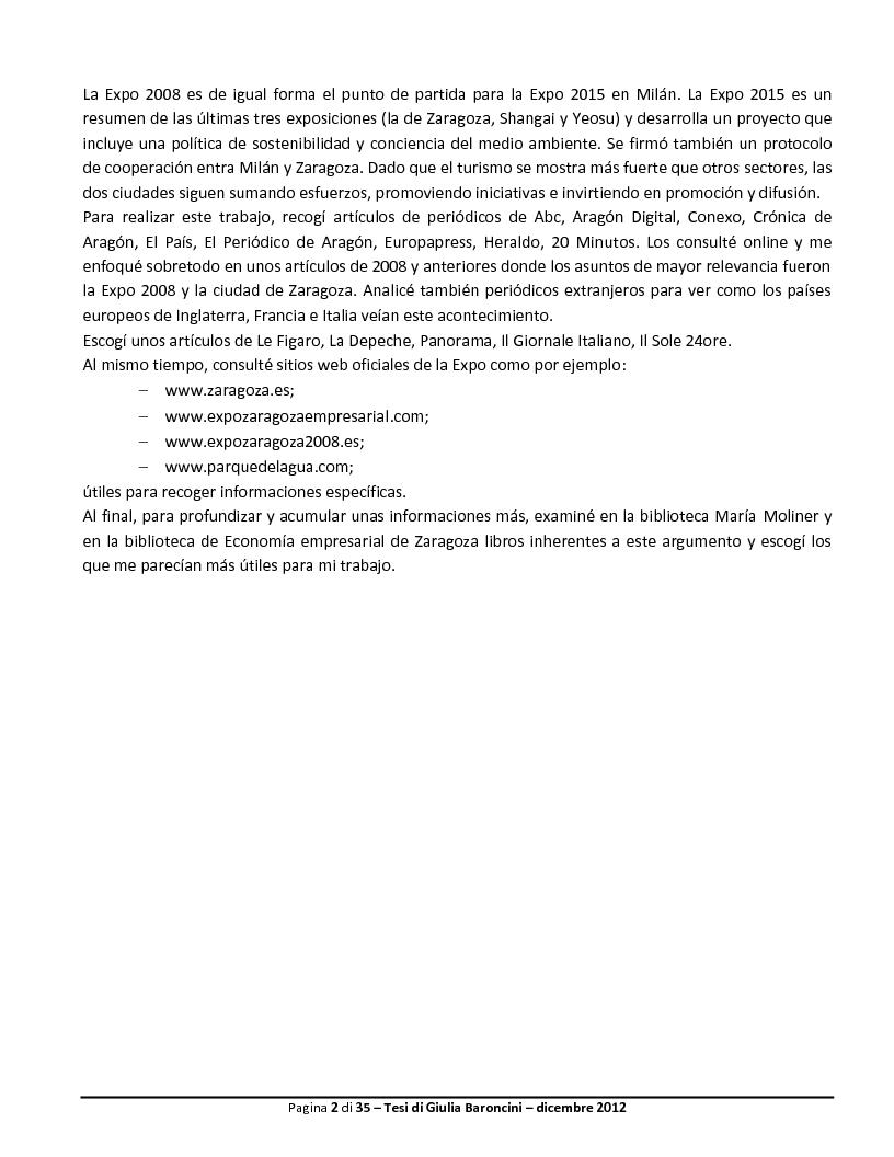 Anteprima della tesi: Expo: desarrollo de la ciudad y de su turismo, Pagina 3