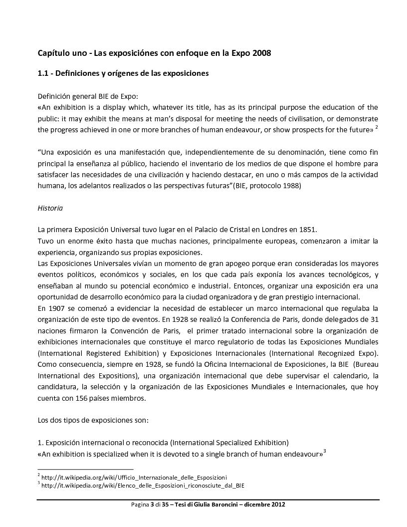 Anteprima della tesi: Expo: desarrollo de la ciudad y de su turismo, Pagina 4