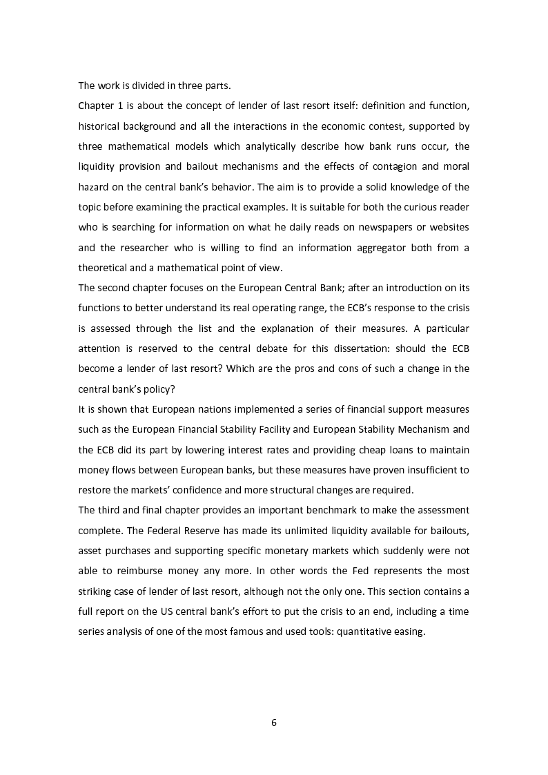 Anteprima della tesi: The Lender of Last Resort: Is There a Role for the ECB?, Pagina 3