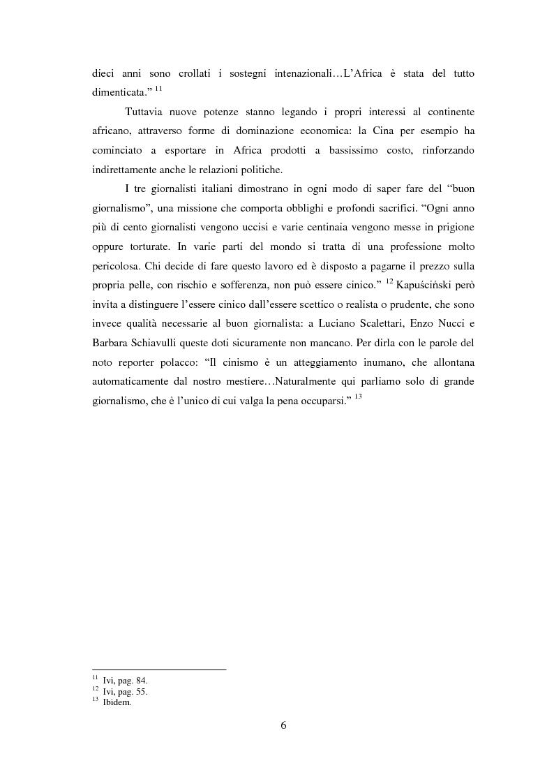 Anteprima della tesi: Giornalisti italiani in Sudan. Storia e drammi nei racconti di Enzo Nucci, Luciano Scalettari, Barbara Schiavulli, Pagina 5