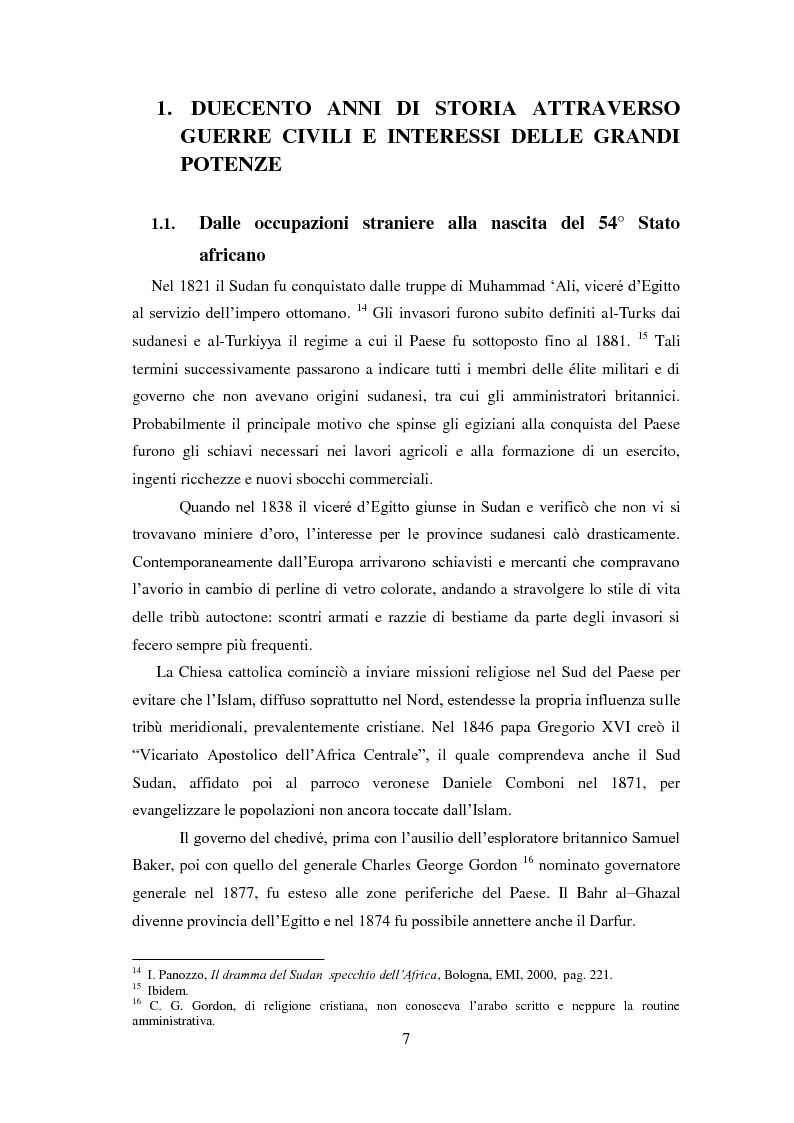 Anteprima della tesi: Giornalisti italiani in Sudan. Storia e drammi nei racconti di Enzo Nucci, Luciano Scalettari, Barbara Schiavulli, Pagina 6