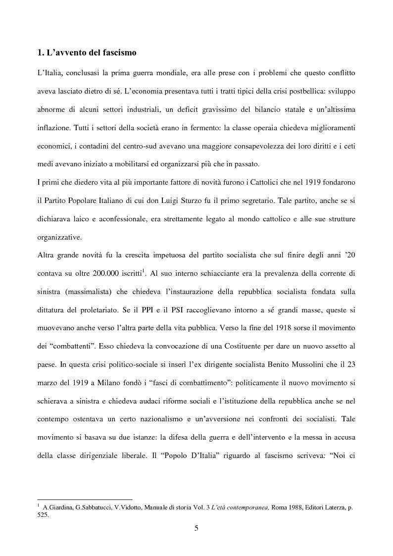 Anteprima della tesi: La stampa durante la dittatura fascista, Pagina 3