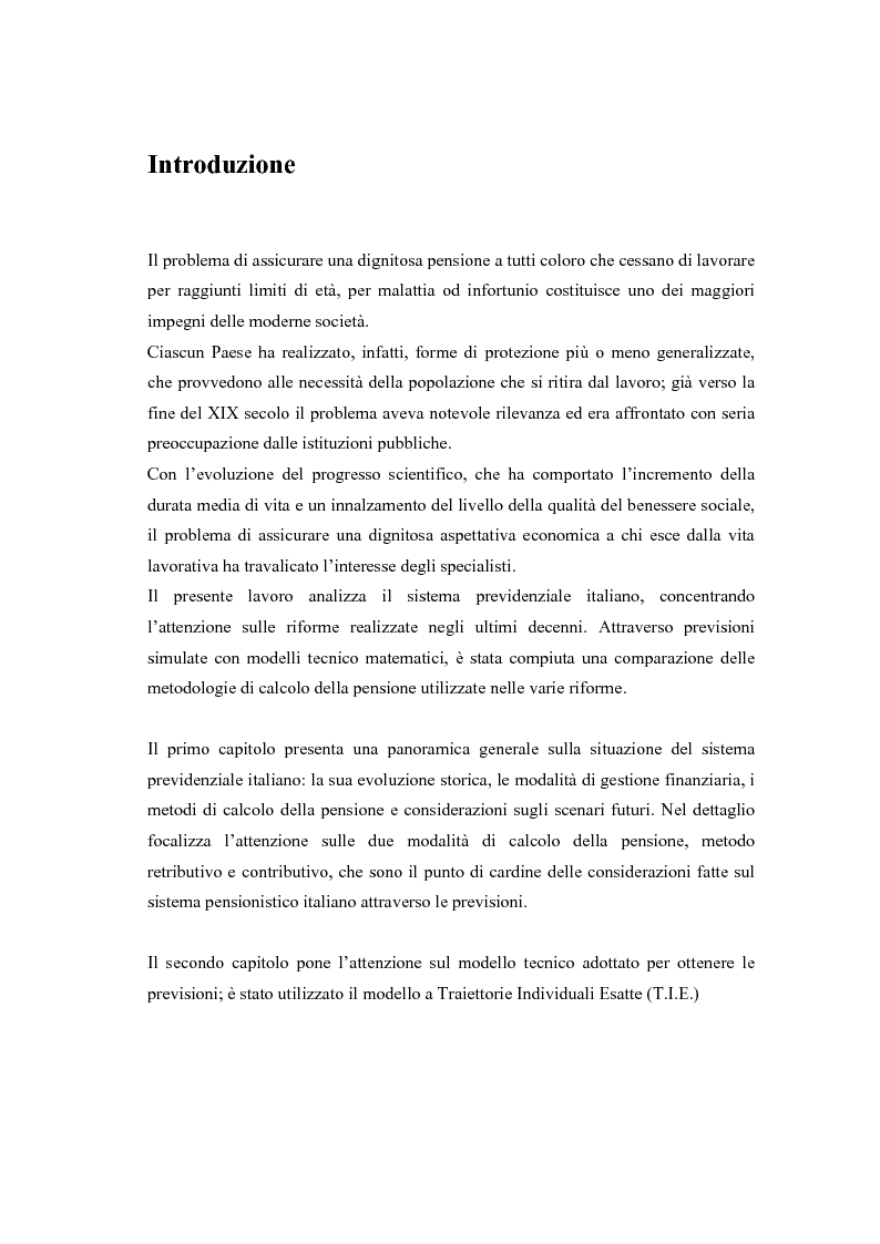 Anteprima della tesi: Il modello a traiettorie individuali esatte e modalità di calcolo delle prestazioni, Pagina 2