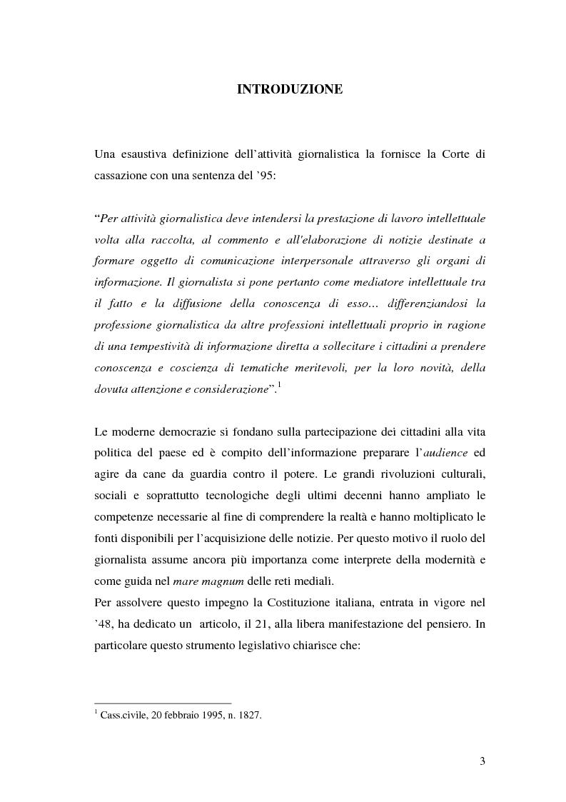 Anteprima della tesi: Il segreto professionale del giornalista: storia e casi di un diritto equivoco, Pagina 2